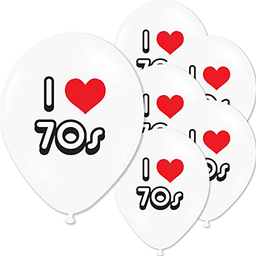 I Loveheart the 70s Balloons - Pack of 10