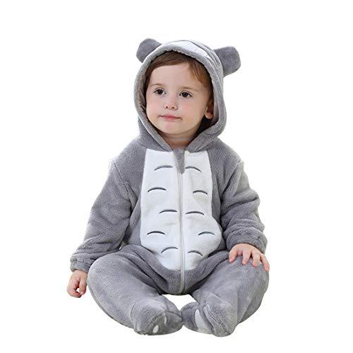 Baby Totoro Kostüm - PAUBOLI Body für Babys, Einteiler, Tiermotiv, 0-6 Monate, Einteiler Gr. 56, Totoro