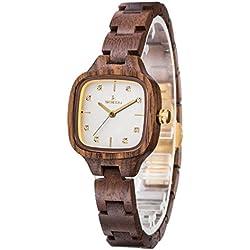 Uwood Unique Walnut Wood Watch Lady Fashion Dress Wood Watch For Gift