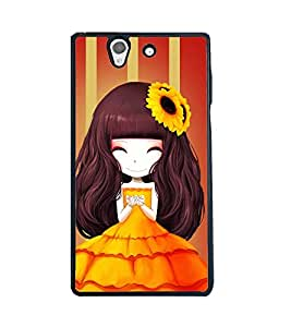 Fuson 2D Printed Girly Designer back case cover for Sony Xperia Z - D4345