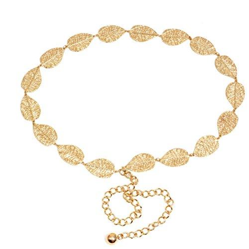 LUOEM Damen Gürtel gold goldfarben Medium