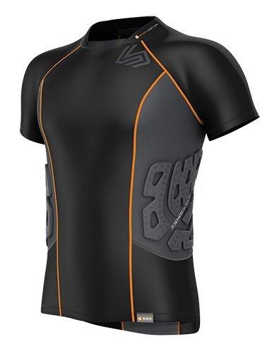 Shock Doctor Men's Shock Skin Ultra 3-Pad Rugby Shoulder Pad Shirt