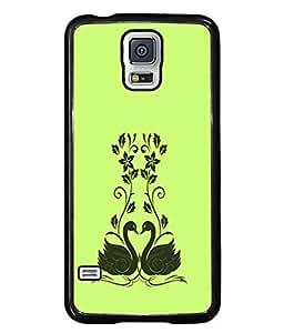 PrintVisa Designer Back Case Cover for Samsung Galaxy S5 :: Samsung Galaxy S5 G900I :: Samsung Galaxy S5 G900A G900F G900I G900M G900T G900W8 G900K (Rainbow color design Multi colour umbrella Light Blue back Designer Case Pretty girl Cell Cover Simple cute Smartphone Cover Extraordinary Impressive design )