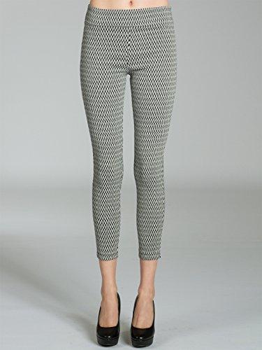 CASPAR HLE019 blickdichte Damen Super Stretch Leggings S bis XXL mit stylischen Stoffmustern Muster D