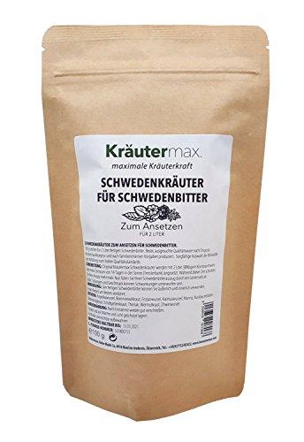 Kräutermax Schwedenkräuter Ansatz Mischung 1 x 100 g Kräuter für 2 Liter Schweden-Bitter