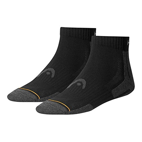 HEAD Unisex Performance Quarter Sportsocken 12er Pack , Größe:43-46;Farbe:black (Socken Performance Damen Quarter)