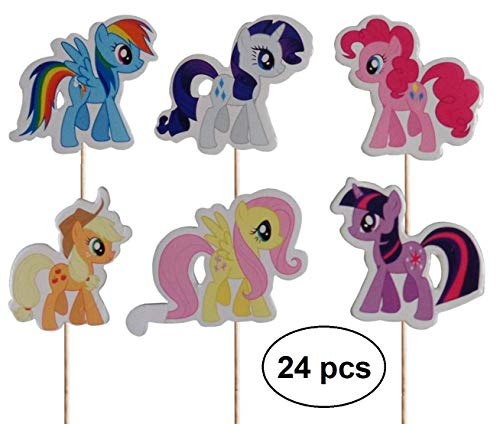 My Little Pony Cupcake Pics Toppers (Packung mit 24)