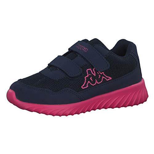 Kappa Mädchen Cracker II BC Kids Sneaker, Blau (Navy/Pink 6722), 33 EU -