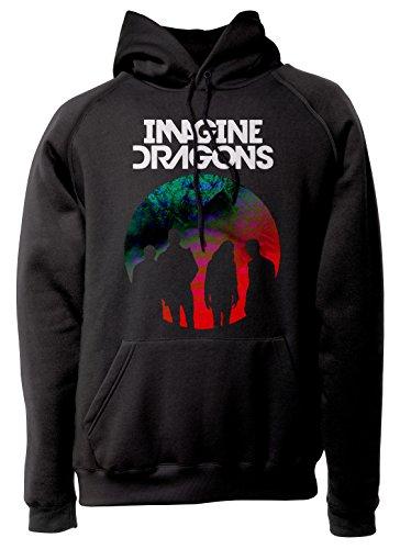 LaMAGLIERIA Unisex-Hoodie Imagine Dragons I D0003 - Kapuzenpullover Indie Rock Band, S, Schwarz