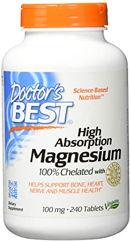 Doctor's Best | High Absorption Magnesium | 100% chelatiert mit TRAACS | 240 vegane Tabletten | sojafrei | glutenfrei