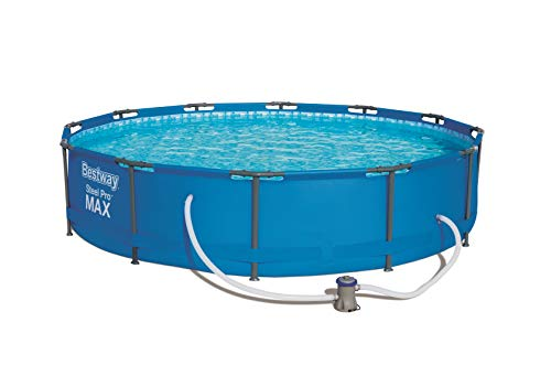 Bestway Round Frame Swimming Pool with Filter Pump, 6473 liters, Steel Pro Max, 30 Inch Deep, 12 ft