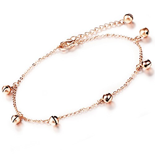 Fate Love Jingle Bells Charme Fußkettchen Armband Sexy Fuß Barfuß Schmuckset Rose Gold (Sexy Teens Für Outfits)