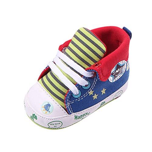 Ginli scarpe bambino,Scarpe Primi Passi Scarpine Neonato Scarpe Bambino Fila Scarpe Bambino Dinosauri Scarpette Antiscivolo per Scarpe con Stampa di Stelle e Stelle