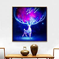 ❉❉UULIKE--Diamond Painting DIY Kits Full Drill, Funny 5D Rhinestone Crystal Embroidery Colorful Shining Elk Pictures Multiple Patterns Pasted Cross Stitch Square Art Craft for Home Decor