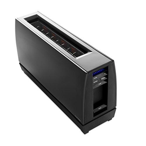 Jacob Jensen - Toaster - One Slot - Aluminium sandgestrahlt - Farbe: Schwarz - Neun Röststufen