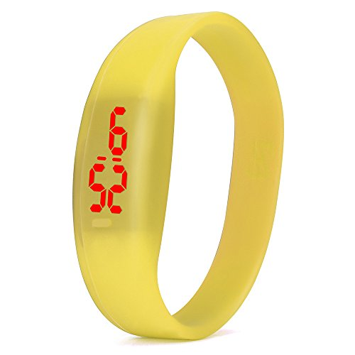 NEEKY Herren Smartwatch Display,watch uhr,Fitness Armband Mit Silikon -Armband,Mode Digital LED Sportuhr Unisex Silikonband Armbanduhren Männer Damen