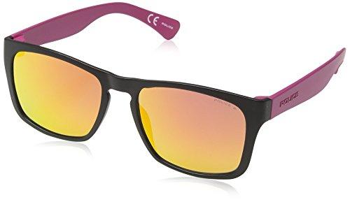 Police - occhiali da sole s1988 trick 2 wayfarer, matt black & purple frame/red mirror lens
