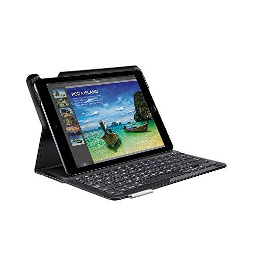 Logitech iPadAir Tastatur-Case (Type + mit kabelloser Tastatur und Bluetooth, QWERTZ Deutsches Tastatur-Layout) schwarz Ipad Air Logitech Keyboard Case