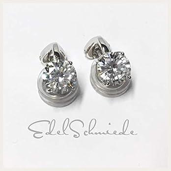 klassische Ohrclips 925 Silber rhod – Zirkonia