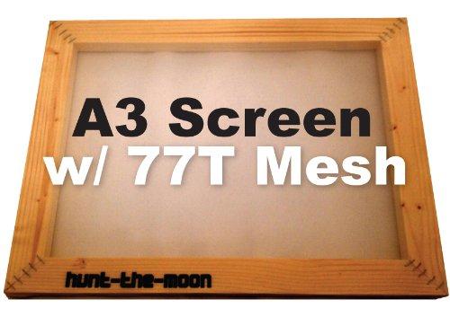 A3 pantalla seda 77T malla marco madera impresión