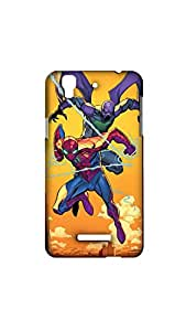 Spide Man In The Sky Case For Micromax Yureka