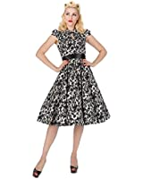 9575 H&R London 50's Rose Floral Collar Dress
