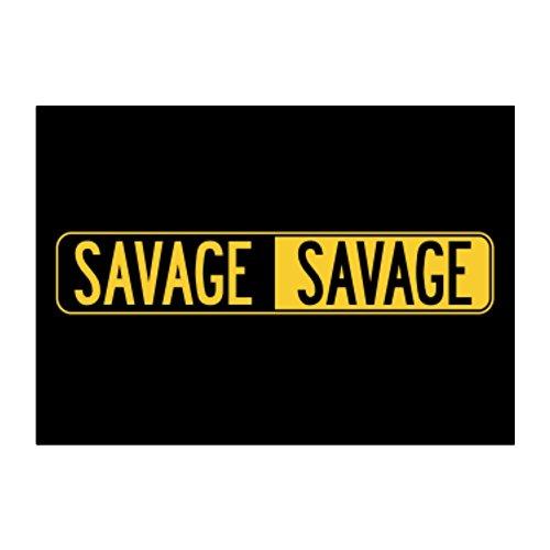 Teeburon NEGATIVE Savage Aufkleber Packung x4 -