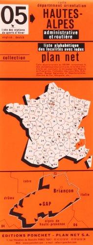 Carte routière : Hautes Alpes par Cartes Ponchet