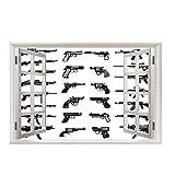 Adesivi Da Parete Vista Effetto 3D Fuori Dalla Finestra Decorazione, Pistola Creativa,Rimovibili Vinile Diy Stickers Murali Per Asilo Nido Cameretta Dei Bambini Adesivo