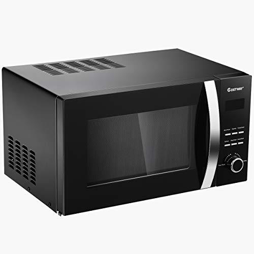 23L Micro-ondes Four à micro-ondes 800W Four à micro-ondes 5 Niveaux de Puissance Réglable en Acier inoxydable No