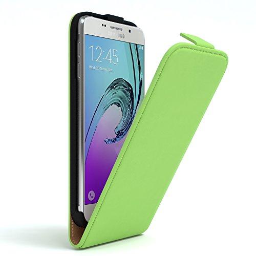 Samsung Galaxy A5 (2016) Hülle - EAZY CASE Premium Flip Case Handyhülle - Schutzhülle aus Leder zum Aufklappen in Dunkelblau Grün
