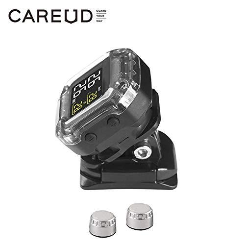 Motorcycle Tyre Pressure Monitoring System, TPMS Senza Fili Pneumatici Motore, Gomma Auto Sistema di Allarme per Due Ruote Moto