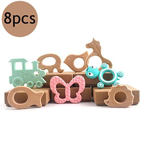 baby tete Dentition Bébé en Silicone Qualité Alimentaire Dentition Infantile Montessori Toys Hochet à Mâcher bio