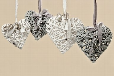 Tamia-Home Hänger in Herzform Dekohänger Türschilder Fensterschilder (grau)