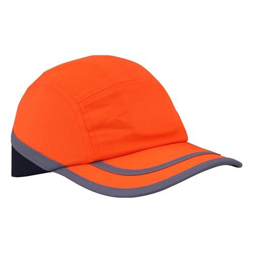 Ultimate Industrial hpbc-hv + Orange Bicolor Premium Bump Cap, Orange/Navy