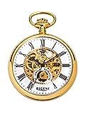 REGENT Taschenuhr - Zeitloses Accessoire für KULTIVIERTE Herren - IPG-vergoldetes, poliertes Edelstahlgehäuse - Inklusive Kette (Maße: Ø 50 x 13 mm) - C335313