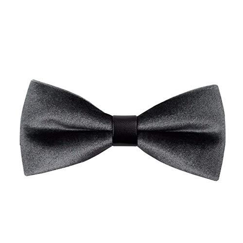 Th papillon da uomo di moda casual da cerimonia, da uomo, di colore scuro, grigio scuro