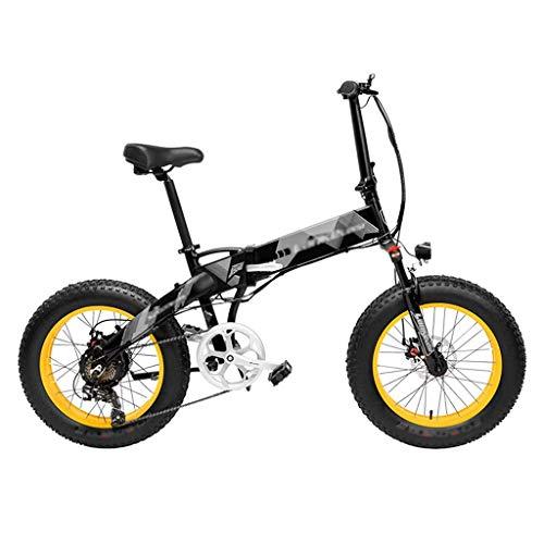DITI Elektrofahrrad X2000 20 Zoll Fett Fahrrad Falten Elektrofahrrad 7 Geschwindigkeit Snow Bike 48 V 10,4 Ah / 12,8 Ah 500 Watt Motor Aluminiumlegierung Rahmen 5 PAS Mountainbike