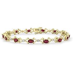 610009da1167 Carissima Gold Pulsera de mujer con oro amarillo 9 K (375) y rubí