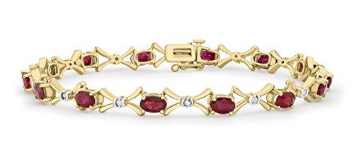 Carissima-Gold-9-Karat-375er-Gelbgold-012-Karat-Diamant-uRubin-Armband-185-128382R