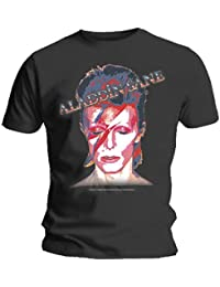 Official T Shirt David Bowie Album Cover ~ Aladdin Sane Grey XXL
