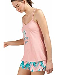 GISELA Pijama de Tirantes con Dibujo Pink Panther 2/1498