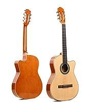 North King Guitarra acústica 50 Pulgadas clásica Guitarra Ultra Delgada Principiante Abeto Guitarra clásica Adultos Instrumento