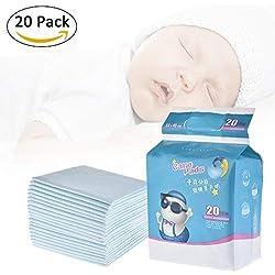 Pueri 20pcs Cambiadores Pañales Desechables para Bebés Almohadillas Absorbentes Urinales para Bebés Mantas de Cambiadores para Cunas (20pcs)