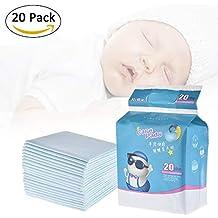 Pueri 20pcs Cambiadores Pañales Desechables para Bebés Almohadillas Absorbentes Urinales para Bebés Mantas de Cambiadores para