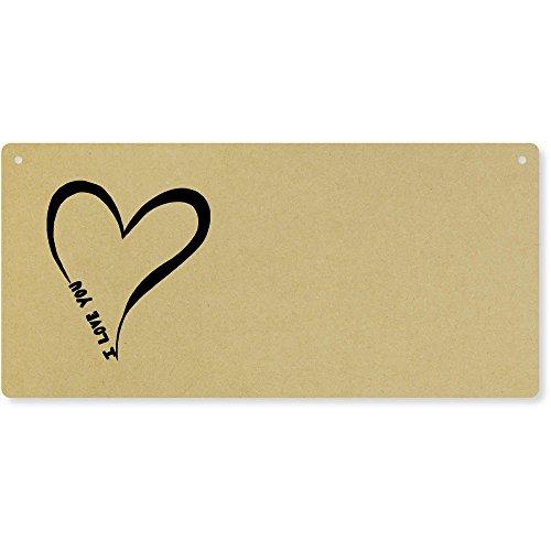 Azeeda 'I Love You' Groß Holzwand Plakette / Türschild (DP00016342)