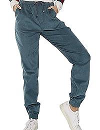 6df814ffc4cfb YUPOLB Mujeres Cintura Alta Pantalón Largo Pantalones Moda Pana Pants con  Cordón