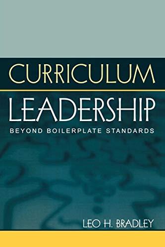 Curriculum Leadership, Beyond Boilerplate Standards