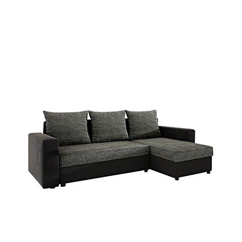 Mirjan24  Ecksofa Top Lux! Sofa Eckcouch Couch! mit Schlaffunktion und Zwei Bettkasten! Ottomane...