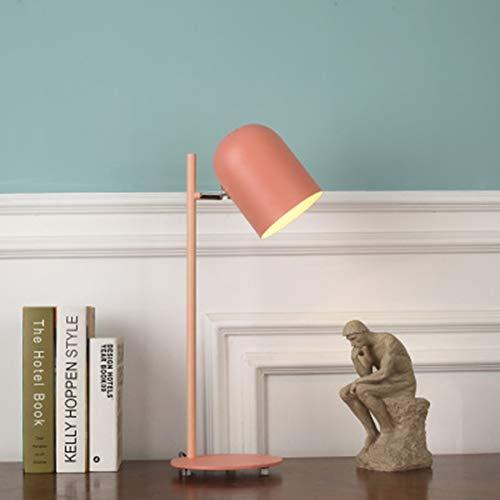 LED Kreative Lampe, Büro Lesebett Home Schlafzimmer Studie Lampe Nordic Moderne Persönlichkeit Kreative Nette Macaron Schreibtisch Nachttischlampe,c - Schwarz Poliert-schreibtisch-lampe